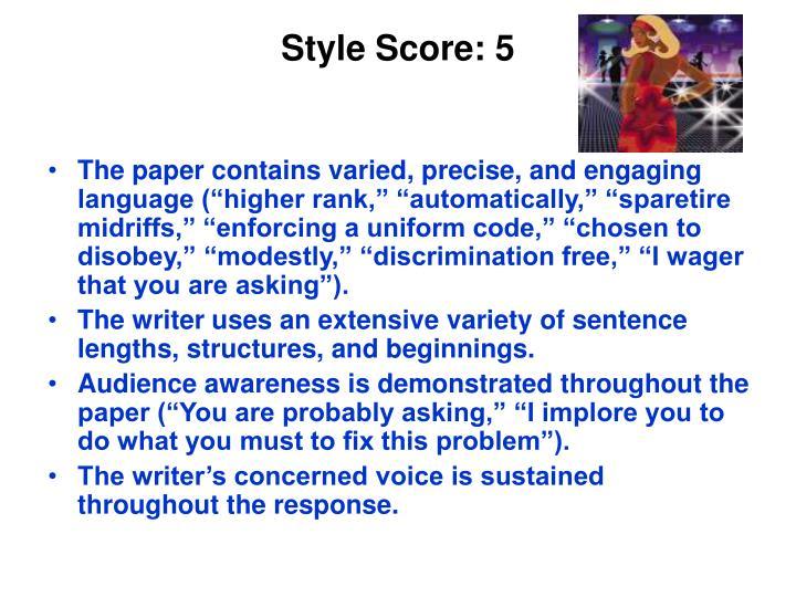 Style Score: 5