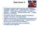style score 5