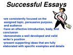 successful essays