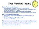 test timeline cont