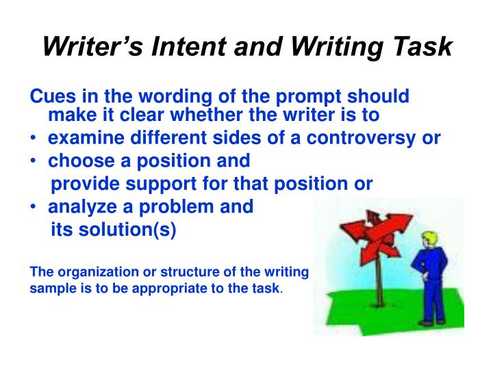 Writer's Intent and Writing Task