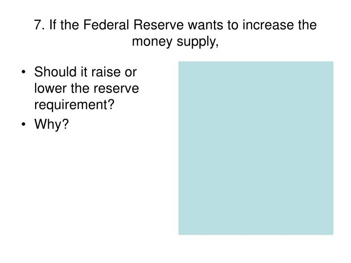 Should it raise or lower the reserve requirement?