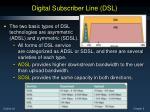 digital subscriber line dsl1