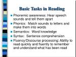 basic tasks in reading