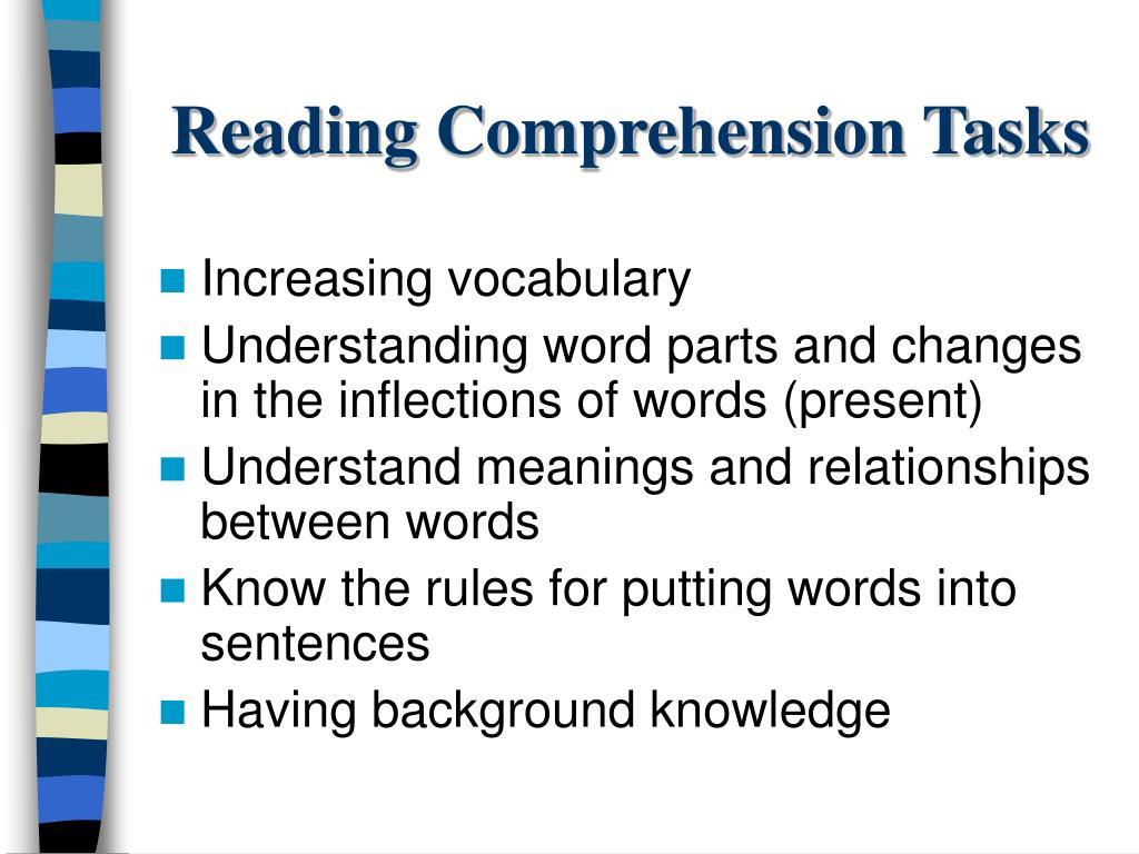 Reading Comprehension Tasks