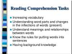 reading comprehension tasks