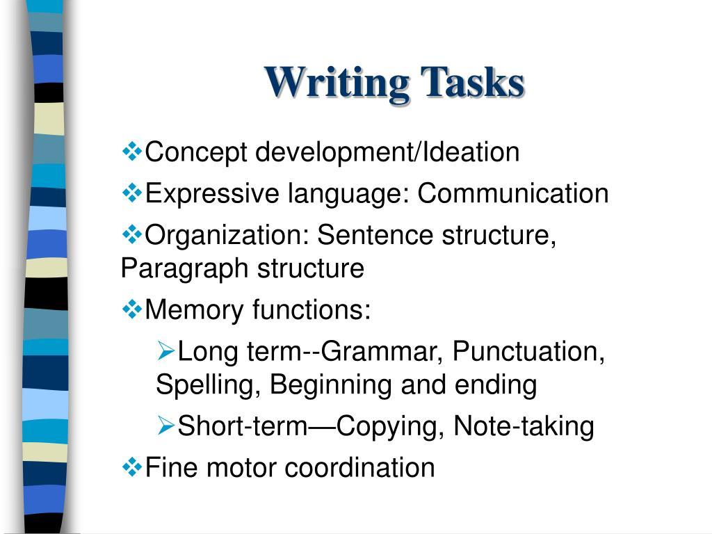 Writing Tasks