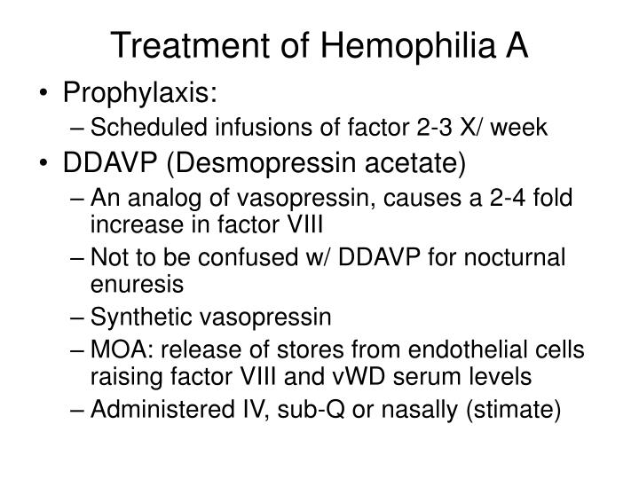 Treatment of Hemophilia A