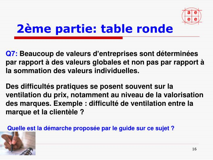 2ème partie: table ronde