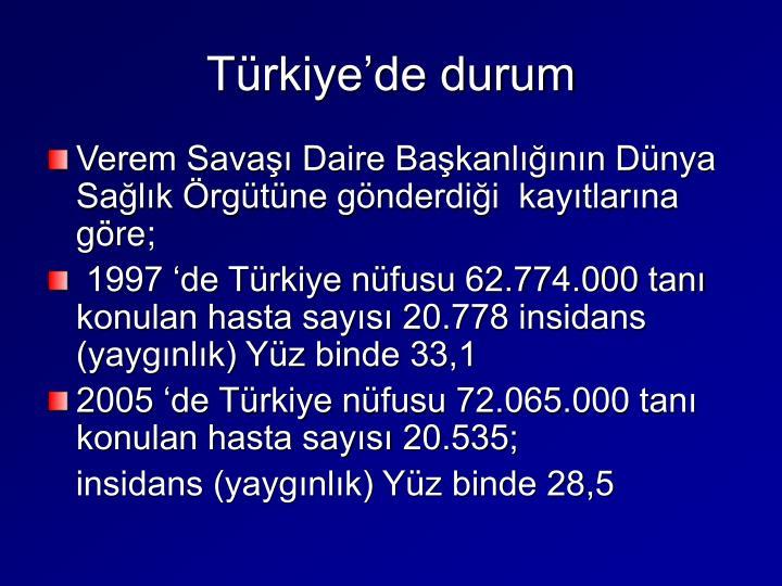 Türkiye'de durum