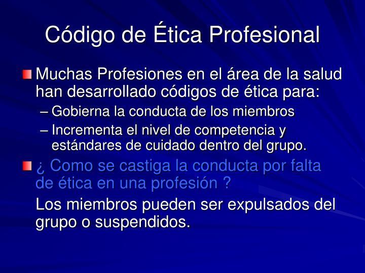 Código de Ética Profesional