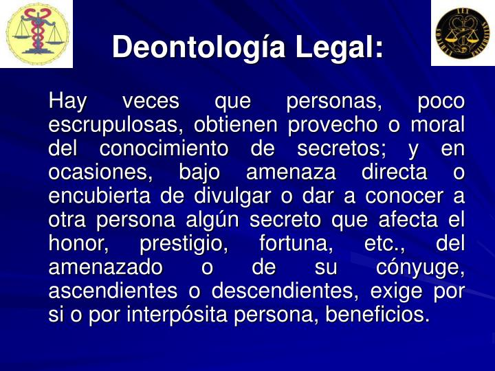 Deontología Legal: