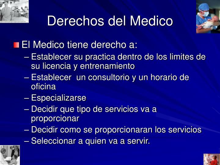 Derechos del Medico