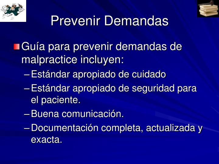 Prevenir Demandas