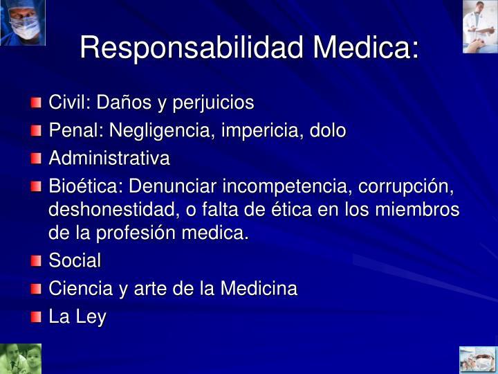 Responsabilidad Medica: