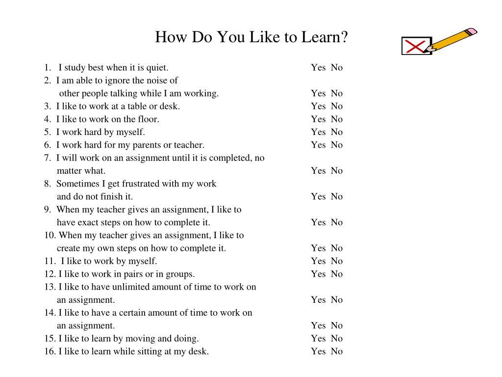 How Do You Like to Learn?