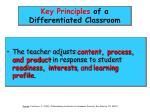 key principles of a differentiated classroom53