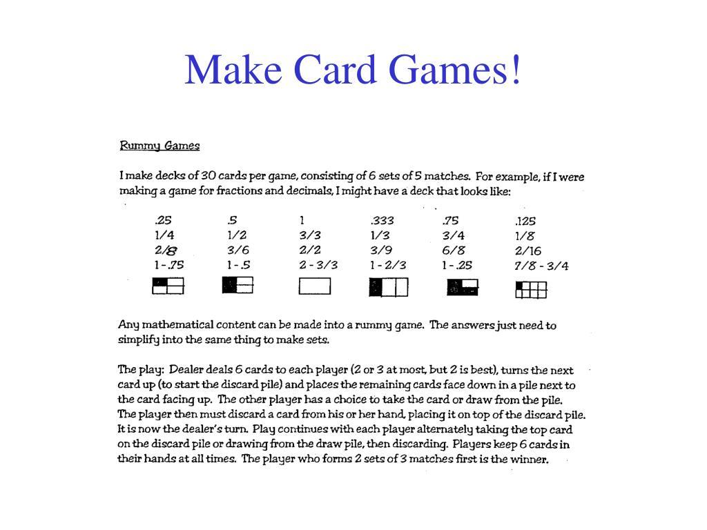 Make Card Games!