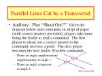 parallel lines cut by a transversal30