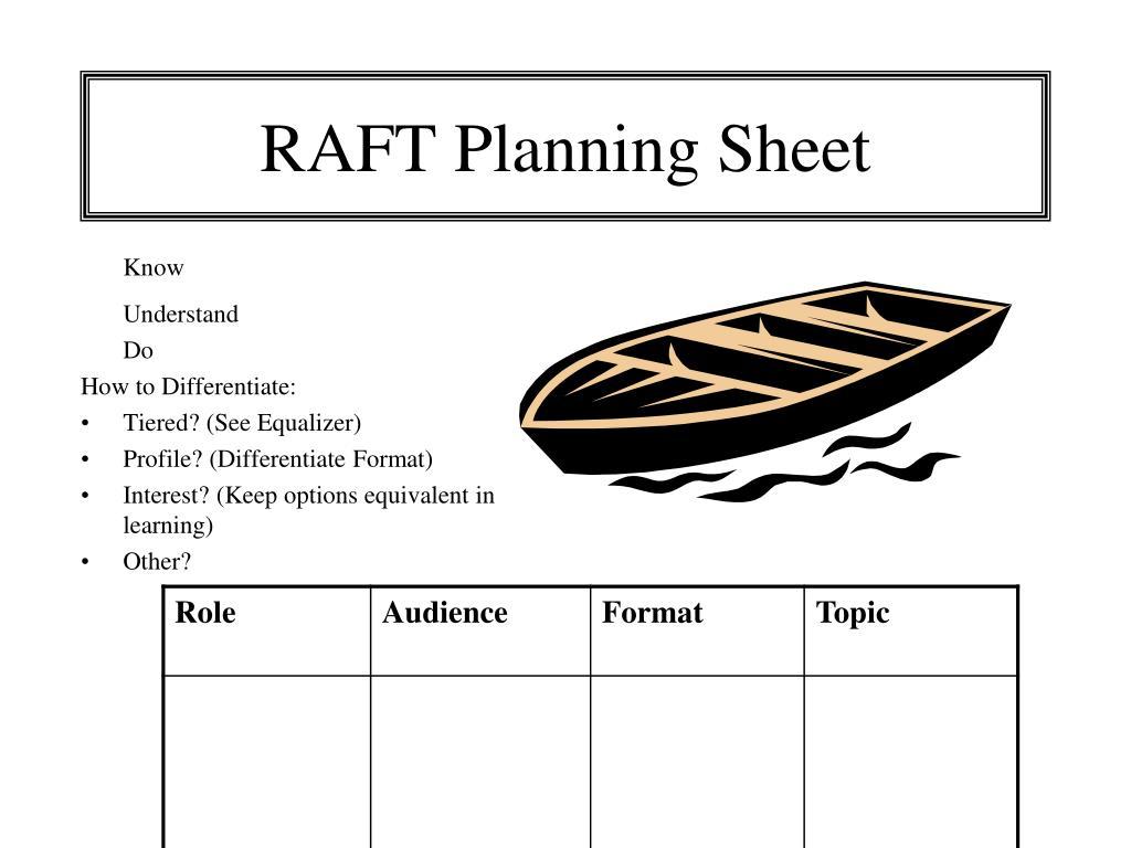 RAFT Planning Sheet