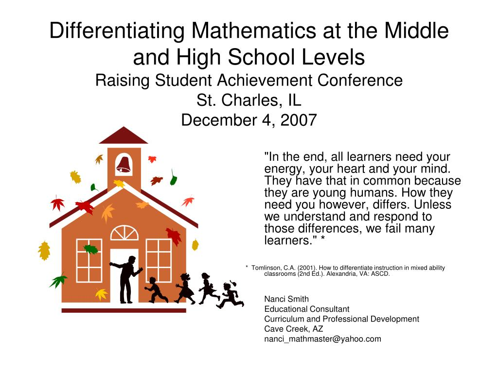 Differentiating Mathematics at the Middle and High School Levels