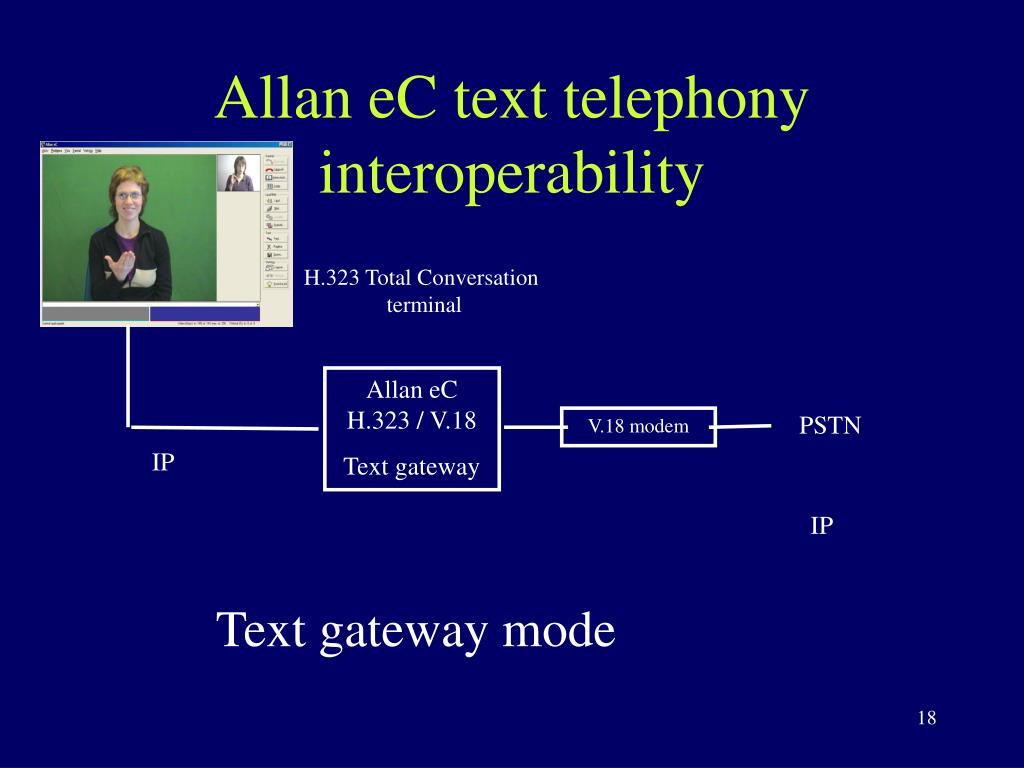 Allan eC text telephony interoperability