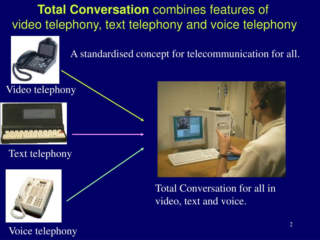 Total conversation combines three features
