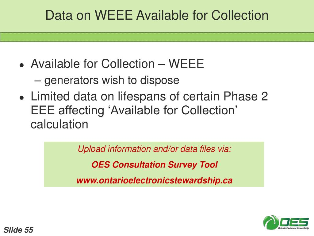 Data on WEEE Available for Collection
