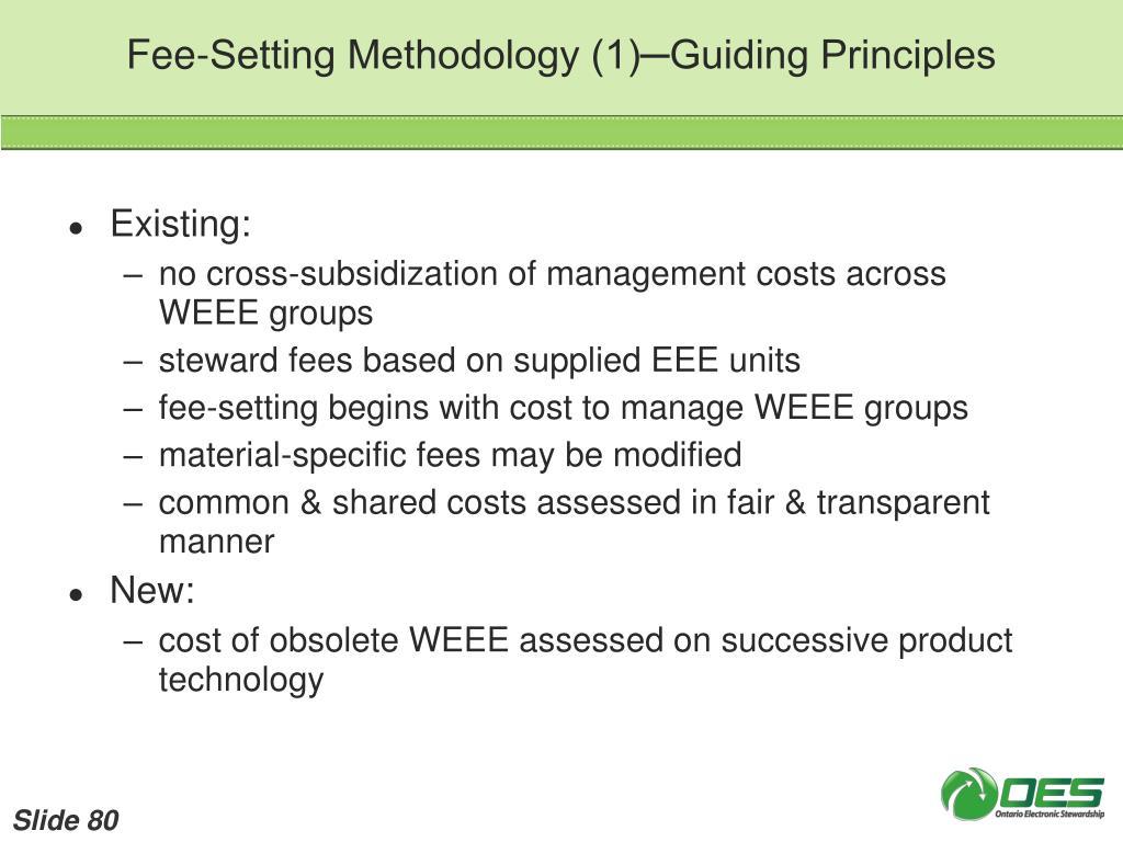 Fee-Setting Methodology (1)─Guiding Principles