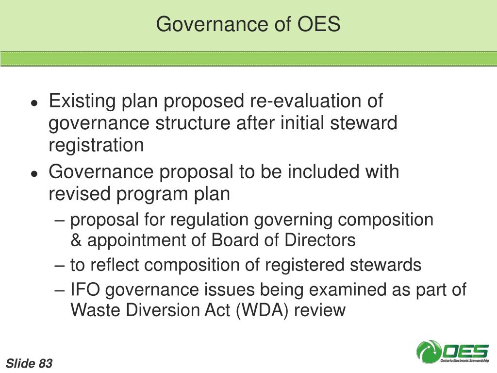 Governance of OES