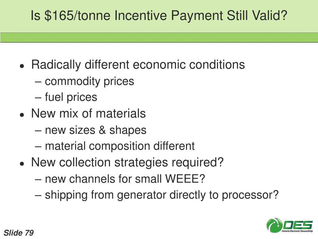 Is $165/tonne Incentive Payment Still Valid?