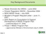 key background documents
