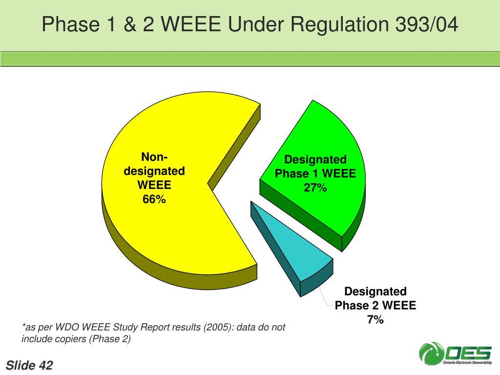 Phase 1 & 2 WEEE Under Regulation 393/04