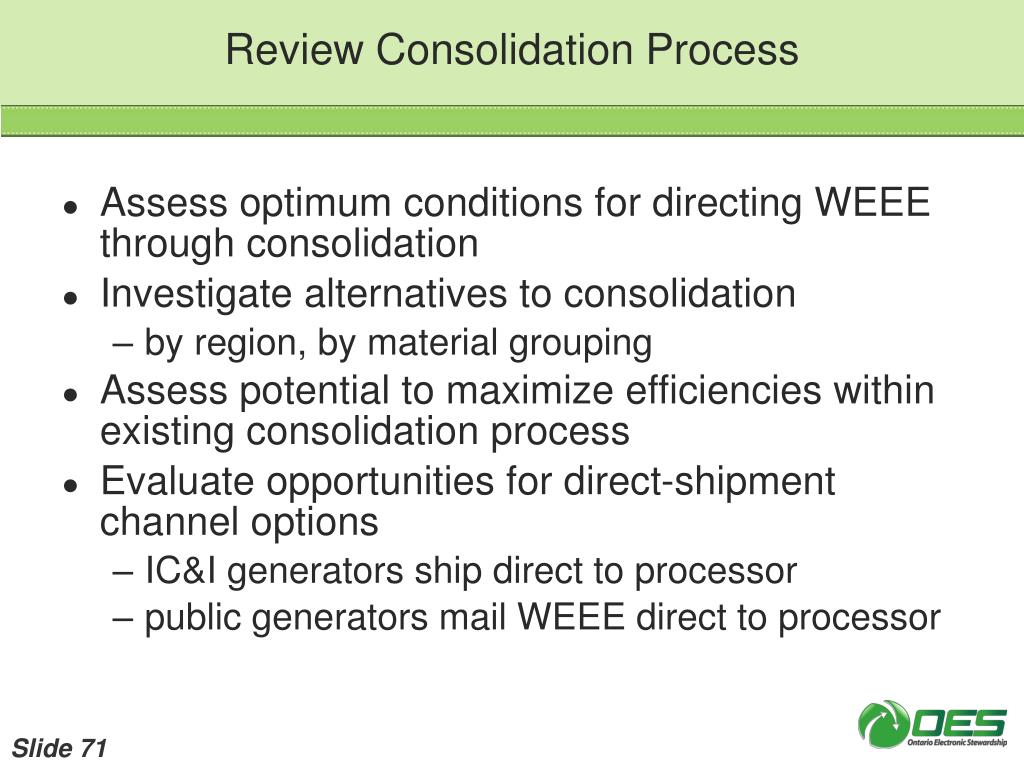 Review Consolidation Process