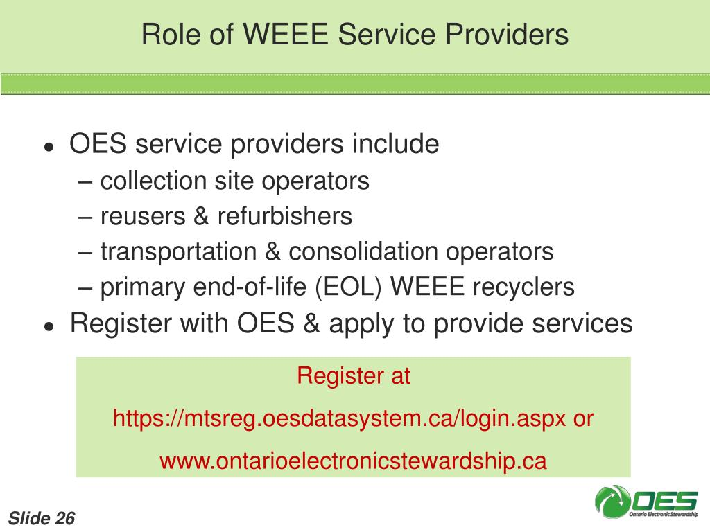 Role of WEEE Service Providers