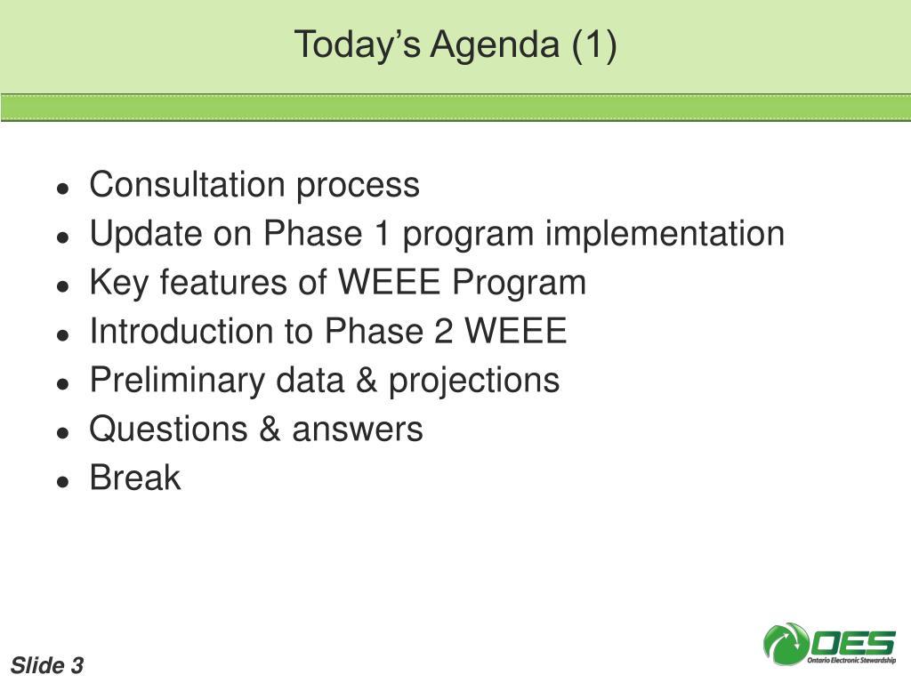 Today's Agenda (1)
