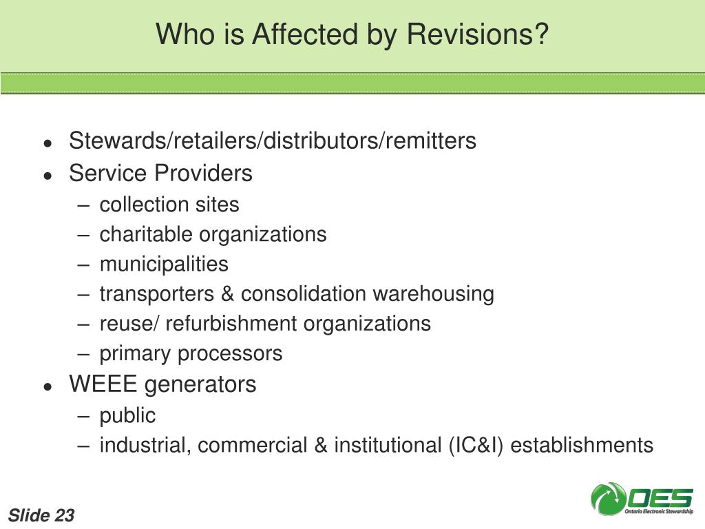 Who is Affected by Revisions?
