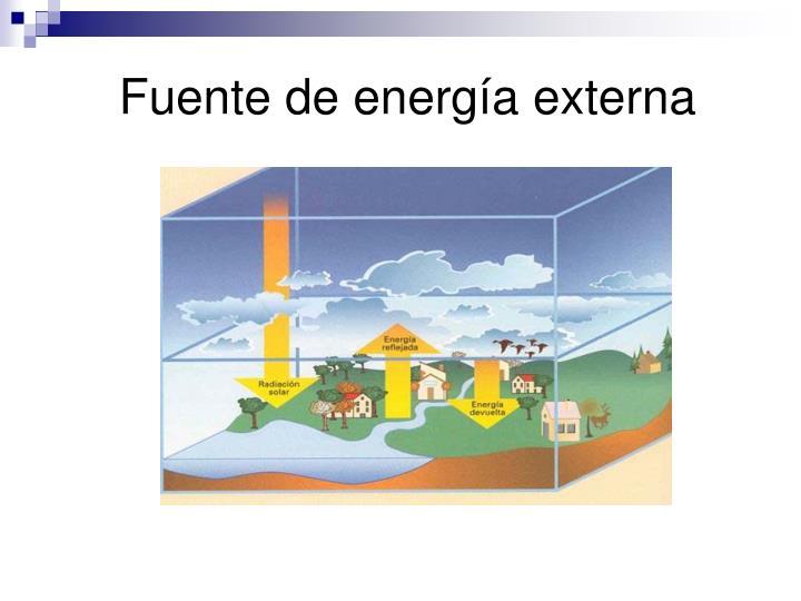 Fuente de energía externa