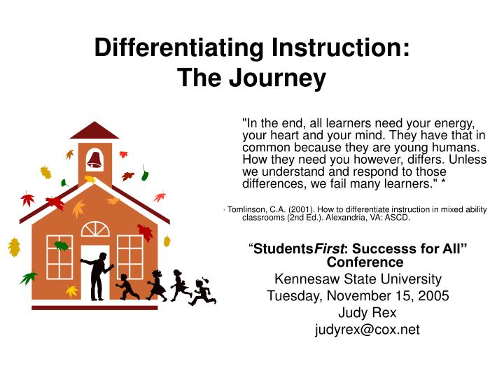 Differentiating instruction the journey