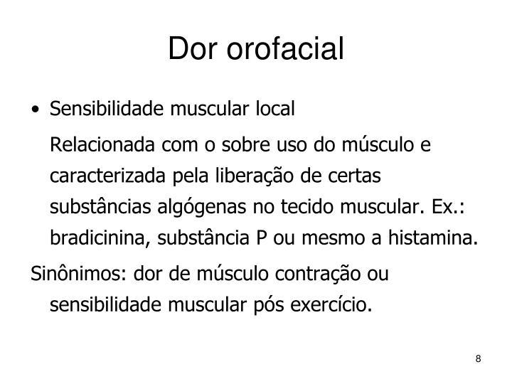 Dor orofacial