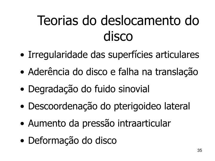 Teorias do deslocamento do disco