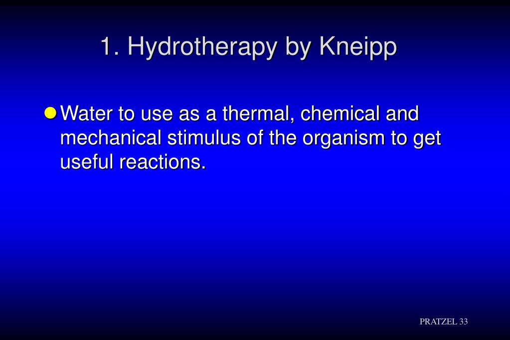 1. Hydrotherapy by Kneipp