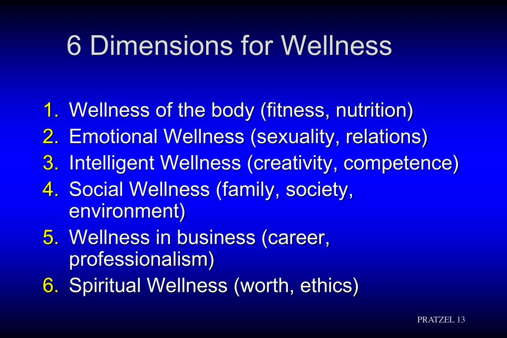 6 Dimensions for Wellness