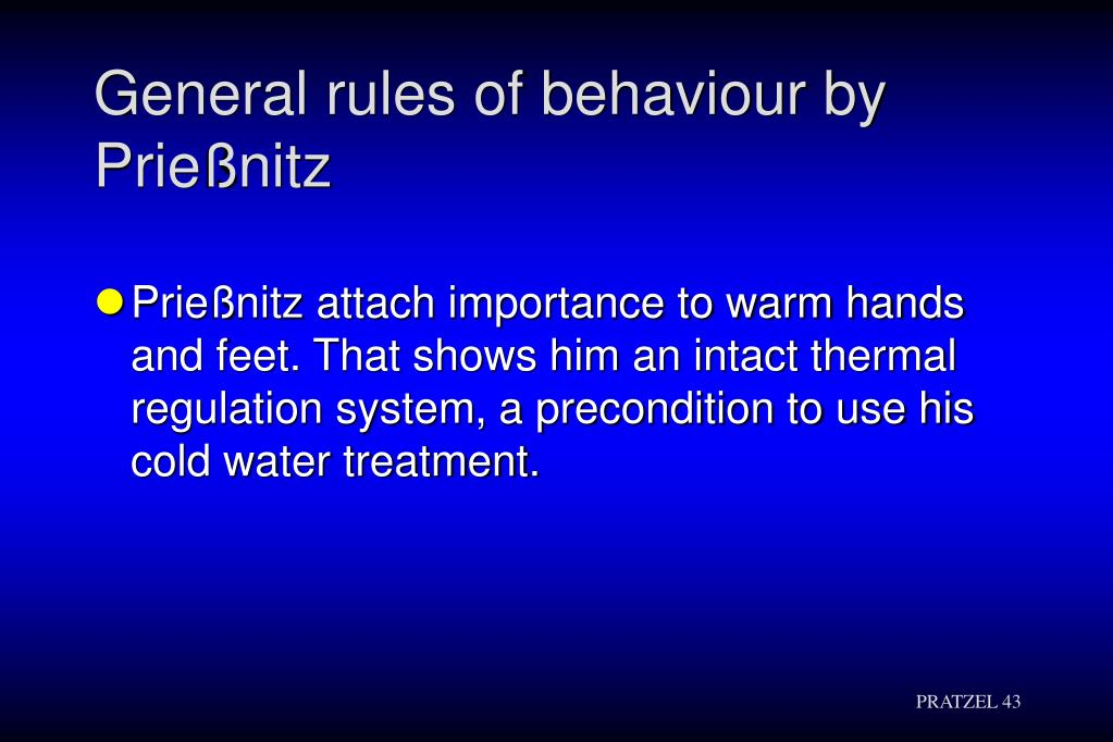 General rules of behaviour by Prießnitz