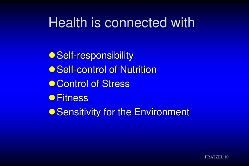 Health is connected with