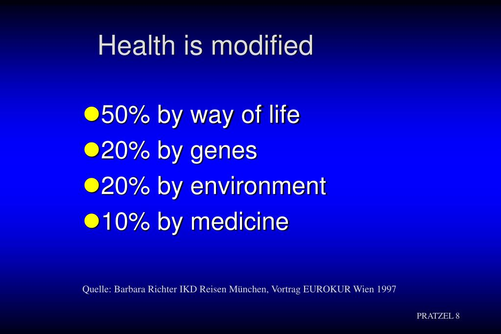 Health is modified