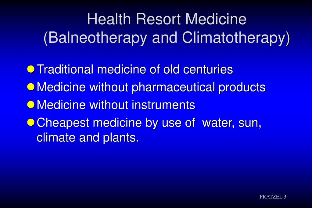 Health Resort Medicine