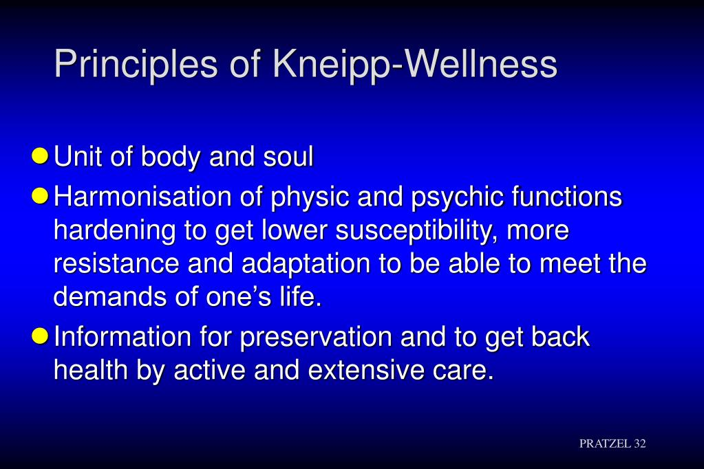 Principles of Kneipp-Wellness