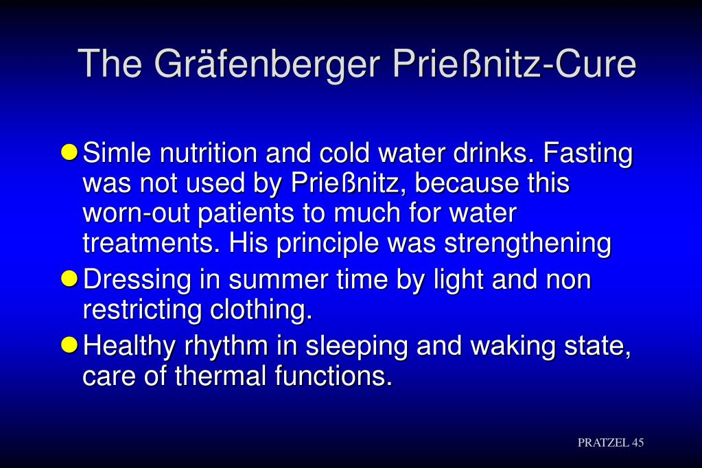 The Gräfenberger Prießnitz-Cure