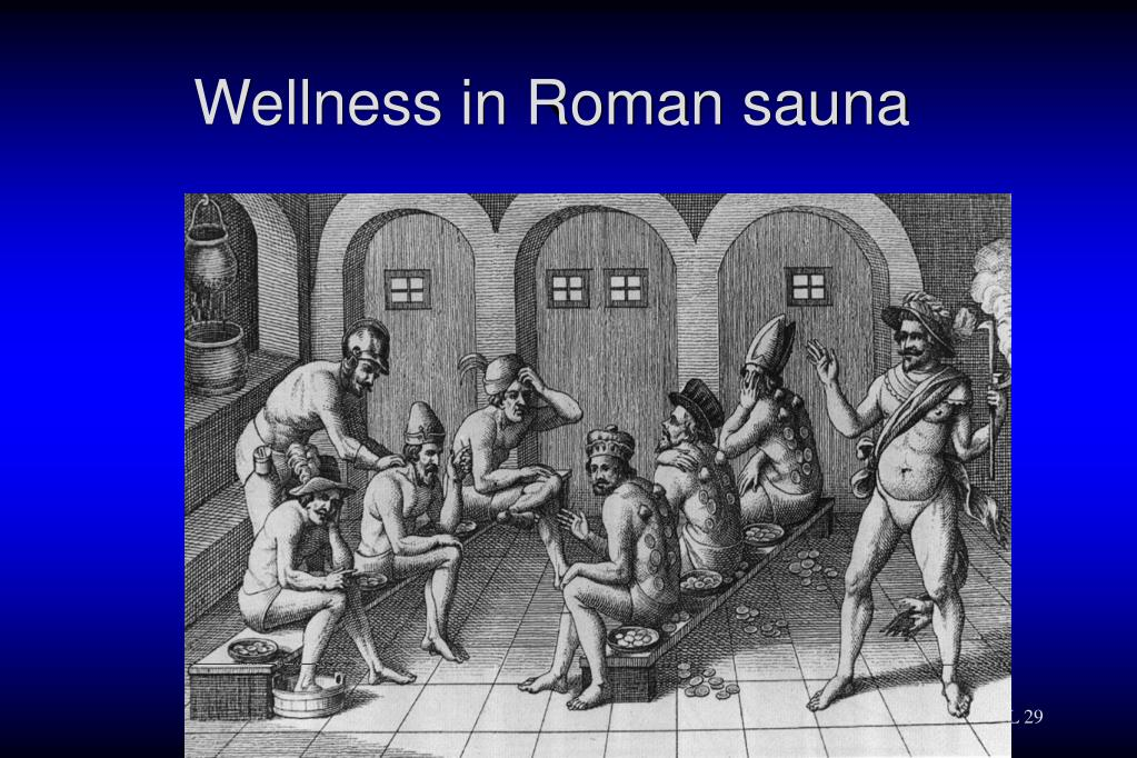 Wellness in Roman sauna